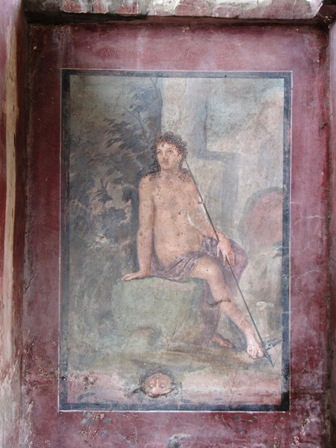 Narcissus (wall painting), House of Loreius Tiburtinus, Pompeii