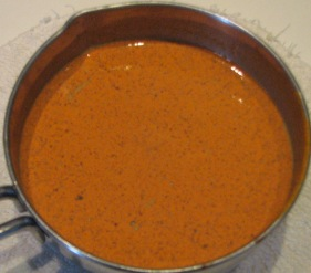 Curcumin butter added to hot chocolate milk
